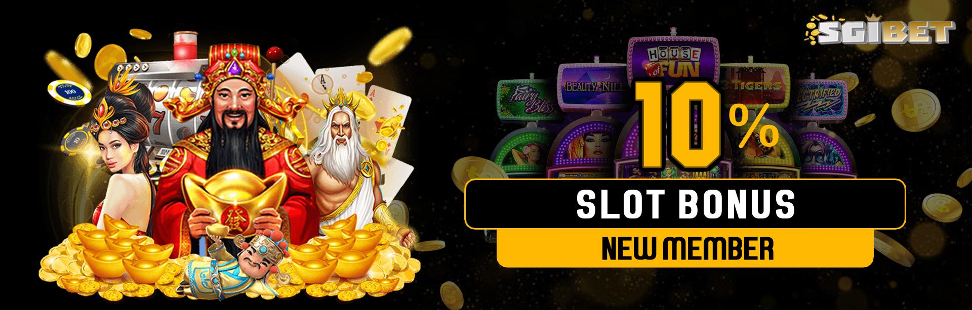Bonus Deposit New Member Slot 10%